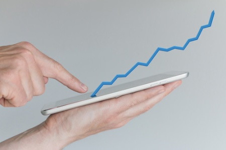 Concept of increasing sales from mobile online shopping